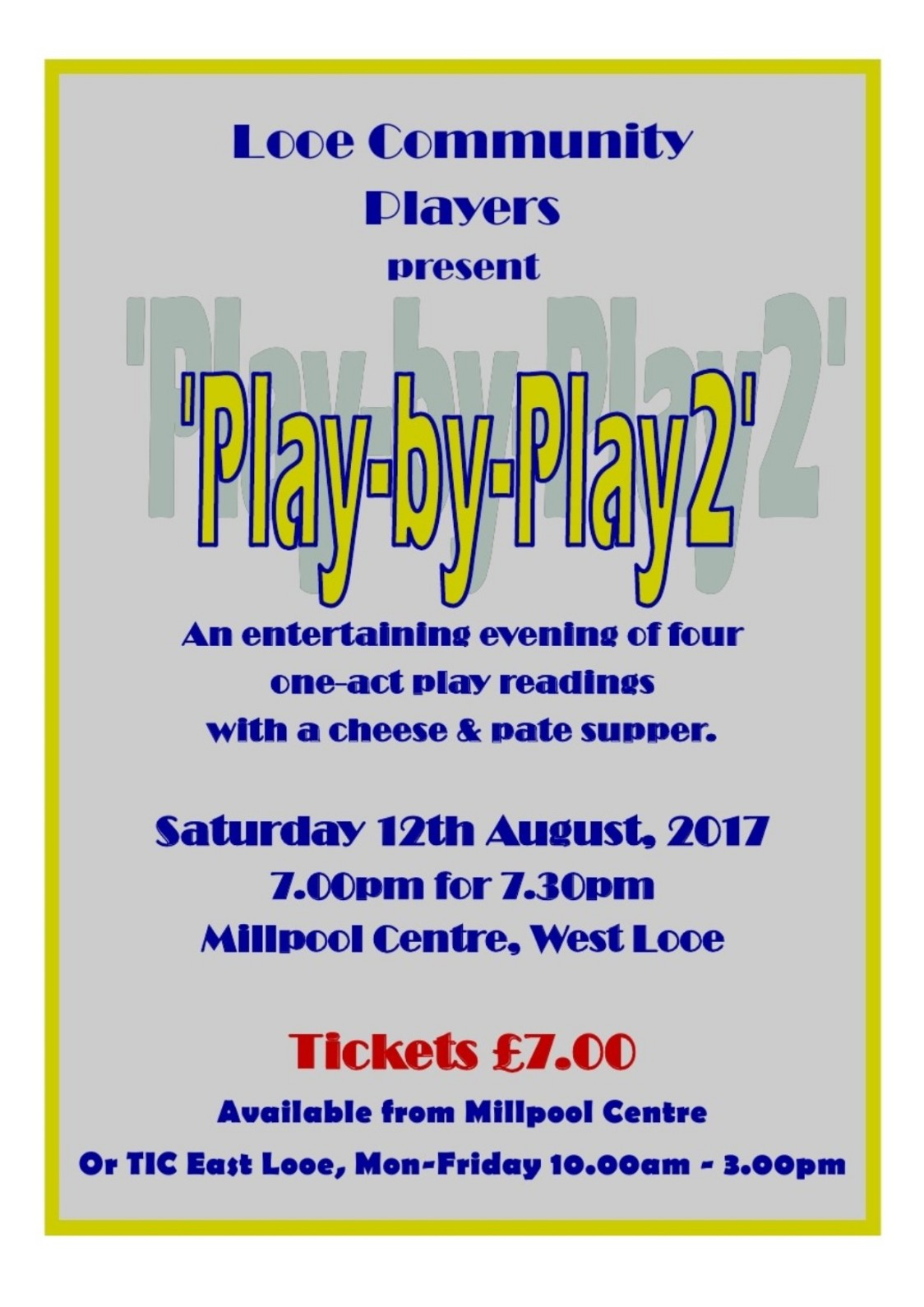 Looe Community Players Sat 12th Aug 2017