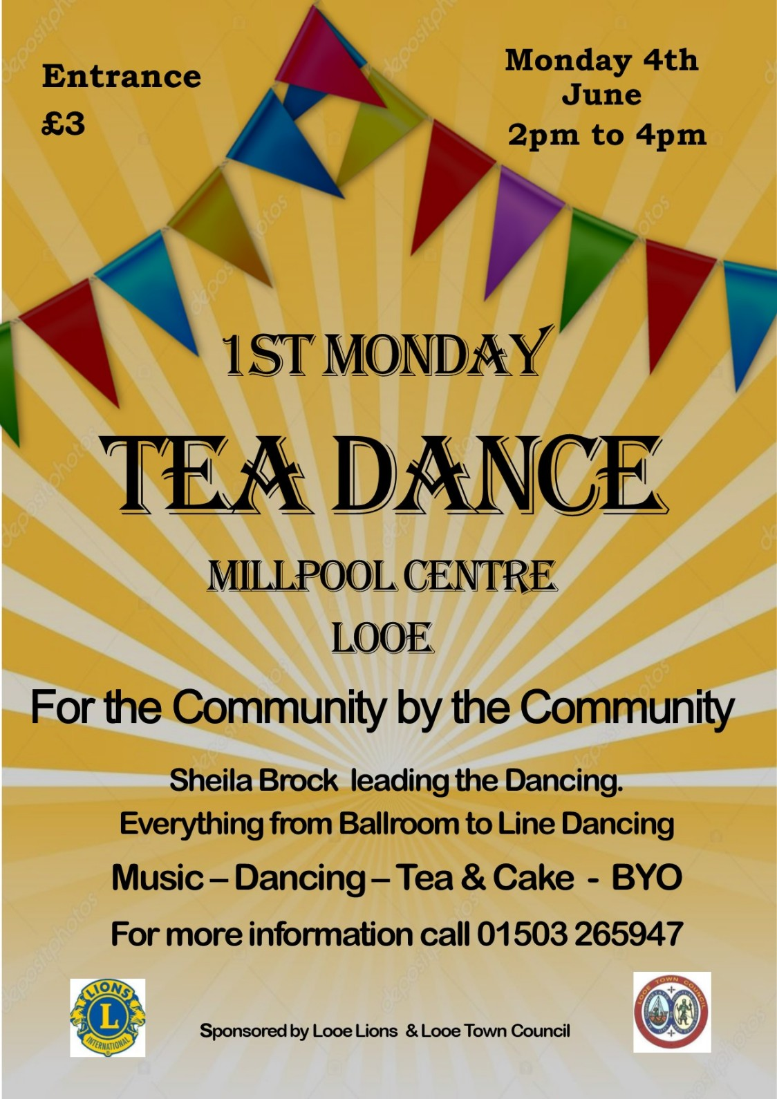 Millpool Centre 1st Monday Tea Dance 4th June 2018