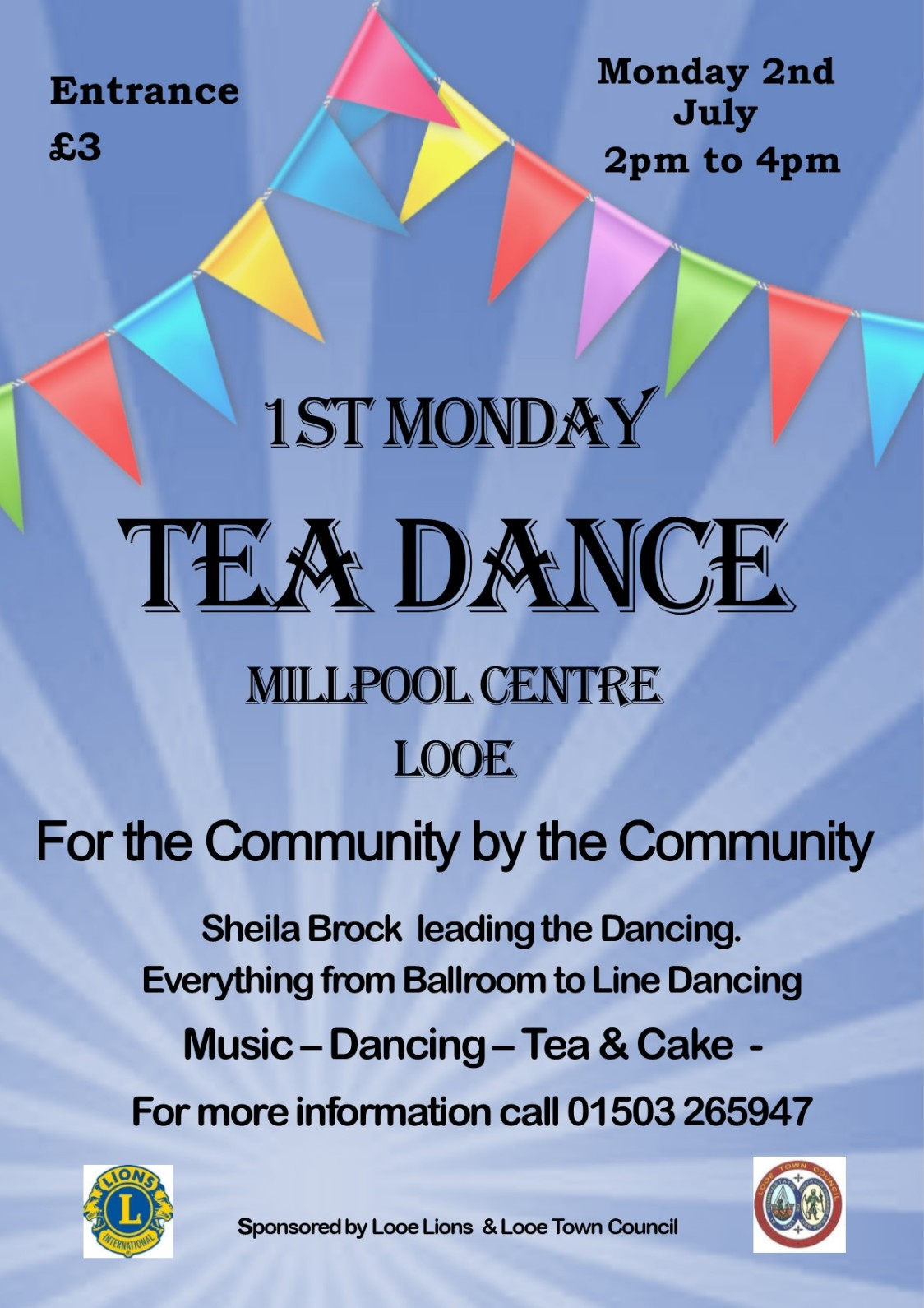 2nd July 1st Monday Tea Dance